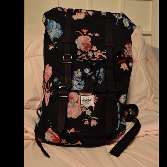 Herschel Supply Company Handbags - Floral HERSCHEL LITTLE AMERICA Mid-Volume  Backpack 511a6e7270b3a